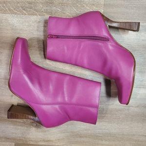 Faith Pink Zip Up Boots